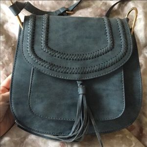 Franco Sarto Suede Cross Body Bag